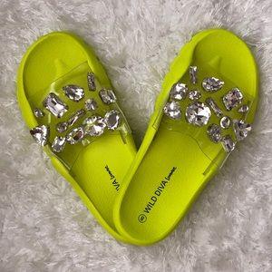 Neon Lime Slides